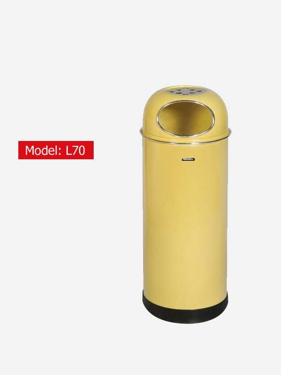 سطل زباله اداری شفق مدل L70